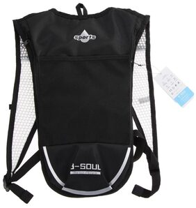 Hydration Pack Backpack For Camping/Hiking/Cycling(Black+White)