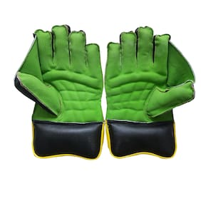 IBEX JetFire Youth Wicket Keeping Gloves (Youth, Green)