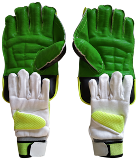 IBEX JetFire College Wicket Keeping Gloves and Inner Gloves Combo (Men, Green, Multicolor)
