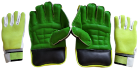 IBEX JetFire Practice Wicket Keeping Gloves and Inner Gloves Combo (Men, Green Multicolor)