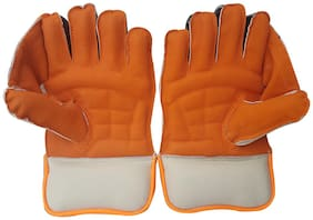 IBEX JetFire Youth Wicket Keeping Gloves (Youth, Orange)