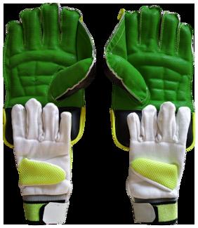IBEX JetFire Regular Wicket Keeping Gloves and Inner Gloves Combo (Men, Green)
