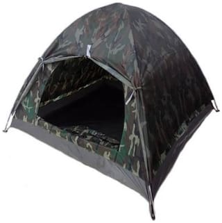 IBS ARMY PORTABLE ADVENTURE HIKING KIDS FAMILY CHILDREN PICNIC TRAVEL INSTANT OUTDOOR CAMPING 3 WATERPROOF BACKPACKING SHELTER BAG Tent - For 2 person (green blacK)