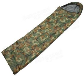 IBS Military Army Camouflage Waterproof Hood Camping Hiking Travel 30 Sleep For Single Person Sleeping Bag (camo)