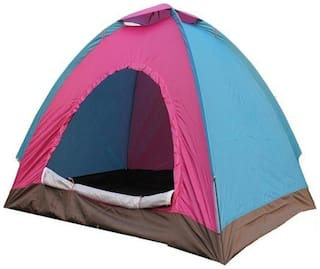 IBS PORTABLE ADVENTURE HIKING KIDS FAMILY CHILDREN PICNIC TRAVEL INSTANT 28 OUTDOOR CAMPING WATERPROOF BACKPACKING SHELTER BAG TENT Tent - For 4 person (Multicolor)