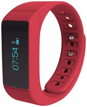 IBS red Fitness Sport Smart Bands red Fitness Band Wristband Watch For Android & IOS Smartphones