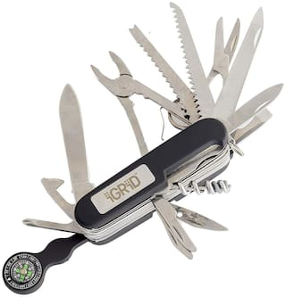 iGRiD Stainless Steel 24 Function Swiss Army Folding Knife Tool Kit