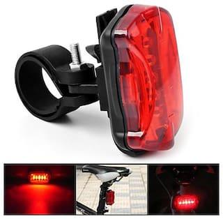 Imported Waterproof Bike Cycling 5 LED Night Safety Flashing Rear Tail Light Lamp