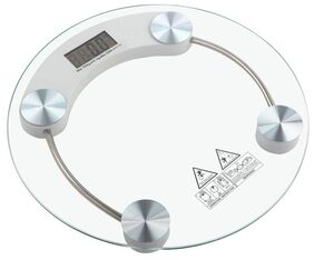 Indo High quality electronic personal scale (8 mm tempered glass+steel )