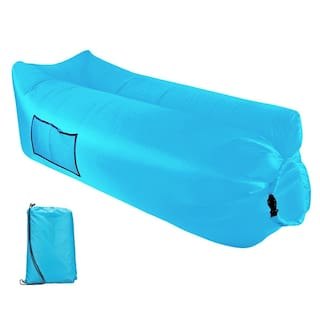 Inflatable Lounger Air Sofa Outdoor Portable Fast Inflatable Mattress Waterproof