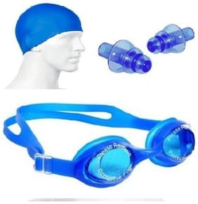 Inrange  combo of swimming cap, goggle and 2 ear plugs - swimming kit