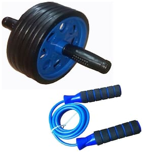 Instafit Ab Wheel Roller With Skipping Rope