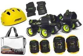 Jaspo Players Pro Senior Skates Combo (skates+helmet+knee+elbow+wrist+bag)suitable for age 6 to 14 years