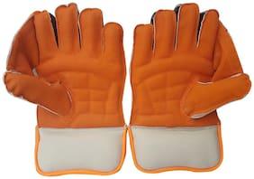 JetFire Regular Wicket Keeping Gloves (Men, Orange)