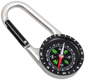 JM 2 in 1 Outdoor Camping Hiking Travel Carabiner Compass - 26