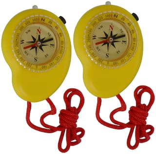 JM 2 Piece Military Hiking Camping Lens Magnetic Compass - PS32