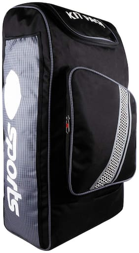 JMO27Deals CKG-01 Polyster Tournament Cricket Kit Bag(Black,Grey)