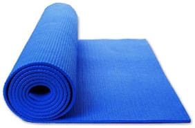 JMO27Deals ECO FRIENDLY BLUE 6 mm Exercise & Gym, Yoga Mat 6 mm Blue 6 mm Yoga Mat
