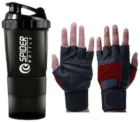 JMO27Deals gym gloves and spider shaker (combo of 2)