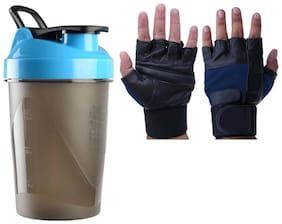 JMO27Deals gym gloves and gym shaker(combo of 2)