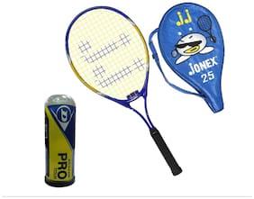 Jonex Power Tennis racekt 25 and dunlop balls 3pcs Tennis Kit