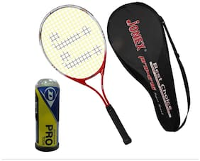 Jonex Sport Tennis racekt 646 and Dunlop balls 3pcs Tennis Kit