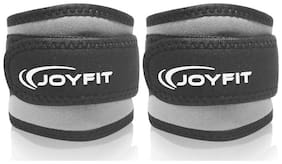 JoyFit - Ankle Straps with Pad and Ring for Cable Machine, Gym, Legs, Butt, Glute Exercises for Men and Women (Grey)