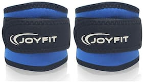JoyFit - Ankle Straps with Pad and Ring for Cable Machine, Gym, Legs, Butt, Glute Exercises for Men and Women (Blue)