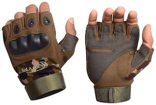 JoyFit Half finger glove - Xl Size , Green