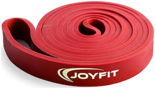 JoyFit - Resistance Loop Bands for Legs, Hands, Workout, Stretching, Exercise, Crossfit, Fitness, Yoga, Gym, Pilates for Men and Women (Red)