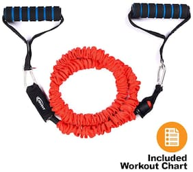 Joyfit - Resistance Tube, Toning Tube with Cloth Cover for Exercise, Workouts, Fitness, Physical Therapy for Men and Women with Exercise Guide