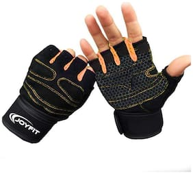 JoyFit Half finger glove - Xl Size , Orange
