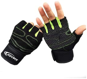 JoyFit Half finger glove - M Size , Green