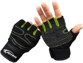 JoyFit Half finger glove - S Size , Green