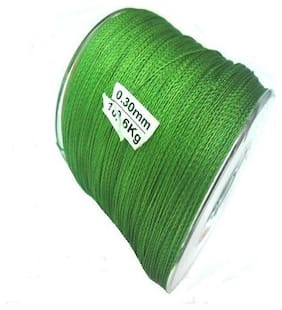 JUST ONE CLICK  FISHING PE BRAID GREEN LINE 500 M 0.30 MM 10.6 kg