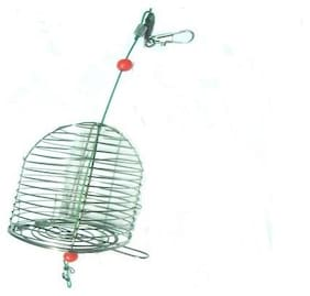 JUST ONE CLICK Fish Small Stainless Steel Cage Basket