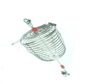 JUST ONE CLICK Fish Small Stainless Steel Cage Basket Feeder