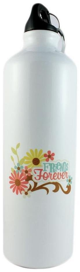 Juvixbuy Friends Forever Printed Sports Sipper / Water Bottle   Aluminium   750 ml by Juvix Buy