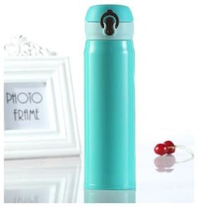 K Kudos 1pc 500ml Stainless Steel Vacuum Cup Thermos Mug Travel Outdoor Office Water Bottle