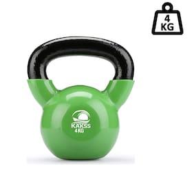 KAKSS 4 kg Vinyl Half Coating Kettlebell ( Kettle bell ) For Gym & Workout
