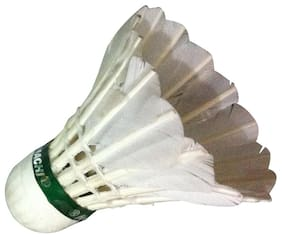 Kamachi Feather Shuttlecocks-White (30 Pieces)