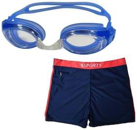 Kamni Sports Swimming Goggles with Swim Shorts Swimming Kit