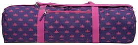 Kanyoga Om Padma Pink Lotus Printed Yoga Mat Bag (70 x 28 x 15 x 15 CM) (LxWxHxD cm) Purple, Set Of 1