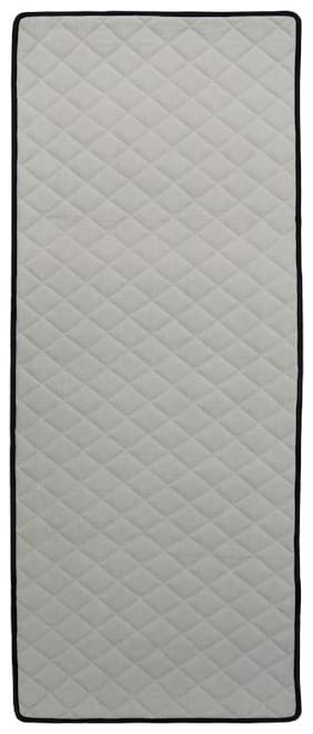 KANYOGA Cotton Durable Rubber Back Anti-Skid Non-Slip Sweat Absorbent Fitness Exercise Gym Yoga Mat (183 L x 61 W cms, Grey)
