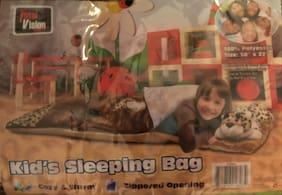KIDS/Children's Toddler Cheetah Pillow Overnight/Camping SLEEPING BAG-NEW CuTe