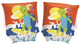 Kids swimming armbands-inflatable Cartoon turtle themed armtubes for 3 to 8 Year Kids  -  by Bestway 32043
