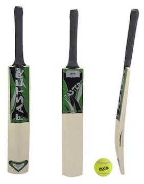 KKS - Faster Tennis Cricket Bat (Full size) + 01 Tennis Ball