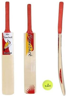KKS - MASTERS Tennis Cricket Bat (Full size) + 01 Tennis Ball