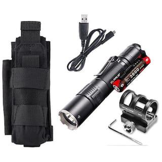 Klarus XT2CR Rechargeable Flashlight w/Battery, GM02 Gun Mount +Tactical Holster