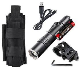 Klarus XT2CR Rechargeable Flashlight w/Battery, Offset Mount +Tactical Holster